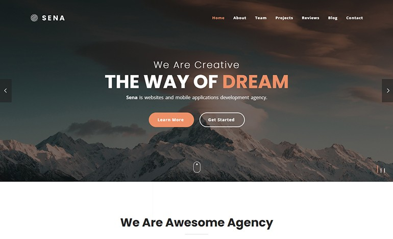 Sena Responsive One Page Parallax Template