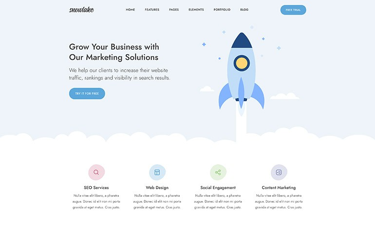 Snowlake Creative Business and Startup Template
