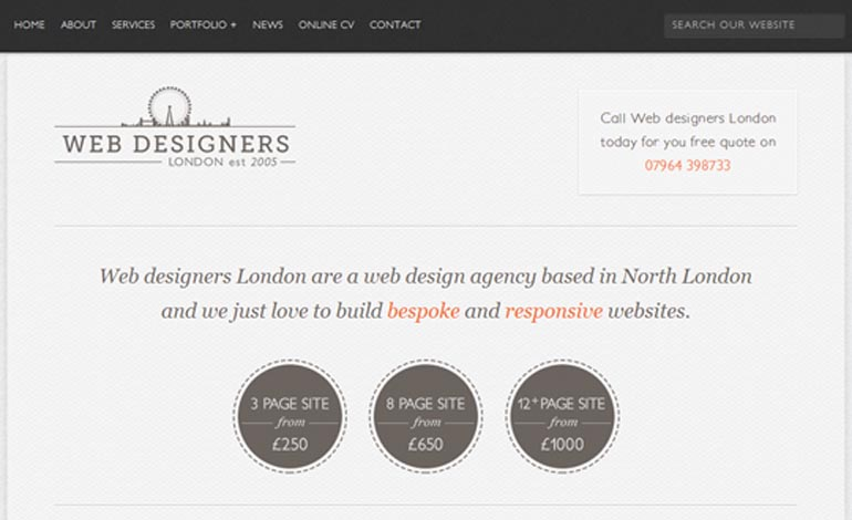 Web designers London
