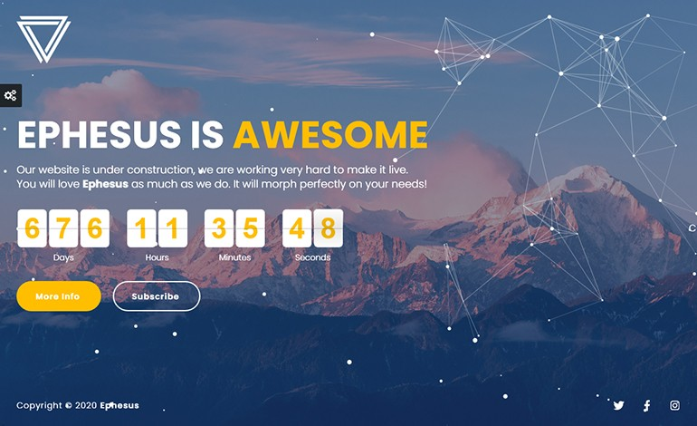 Ephesus Creative Coming Soon WordPress Plugin