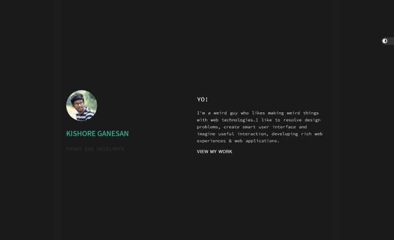 Kishores portfolio website