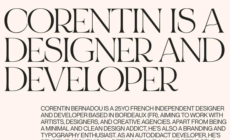 Corentin Bernadou Portfolio