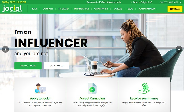 Jocial Influencer Marketing Platform