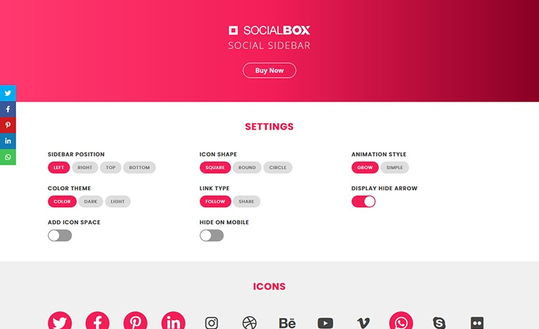 SocialBox Social Sidebar