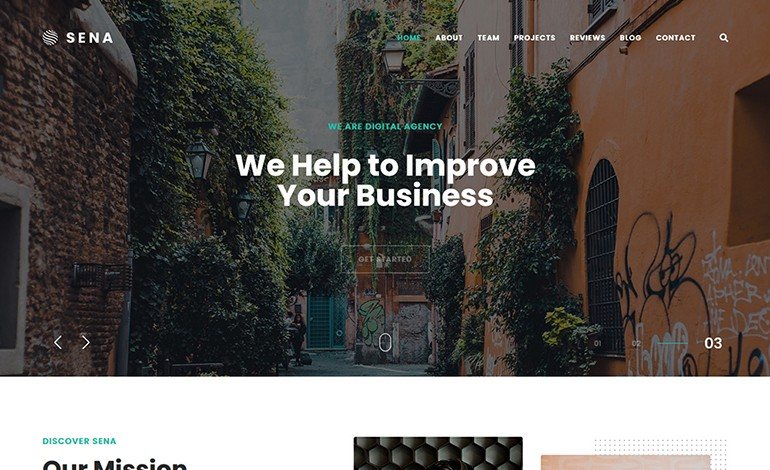 Sena Creative MultiPurpose WordPress Theme