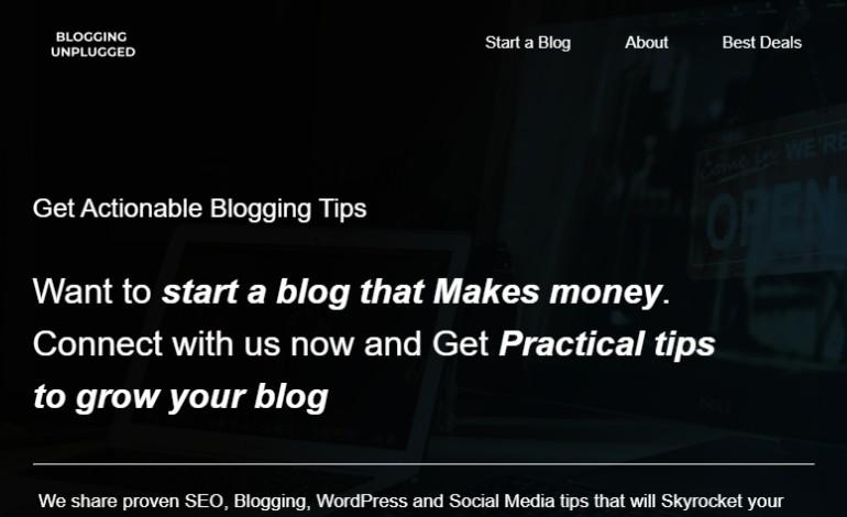Blogging Unplugged