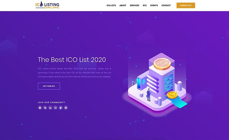 ICO Listing Online