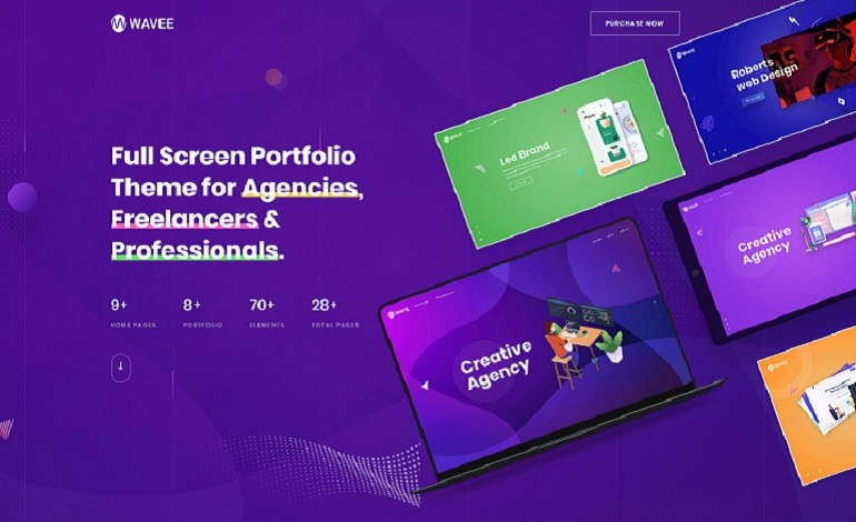 Wavee Creative Portfolio WordPress Theme