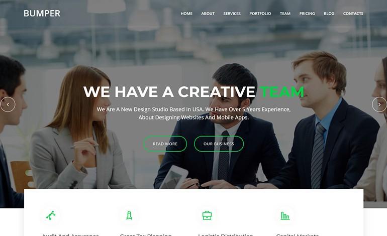 Bumper Material Design Agency Template