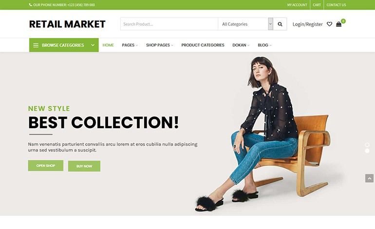 Retail Market Multi Vendor WordPress Theme