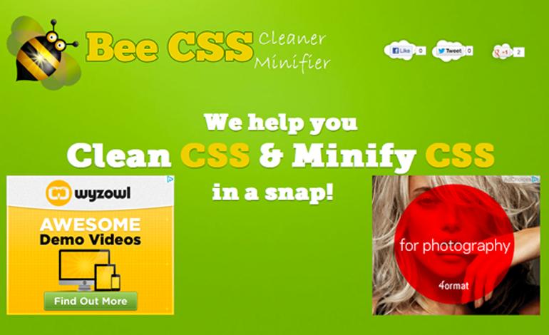 Bee CSS Cleaner Minifier