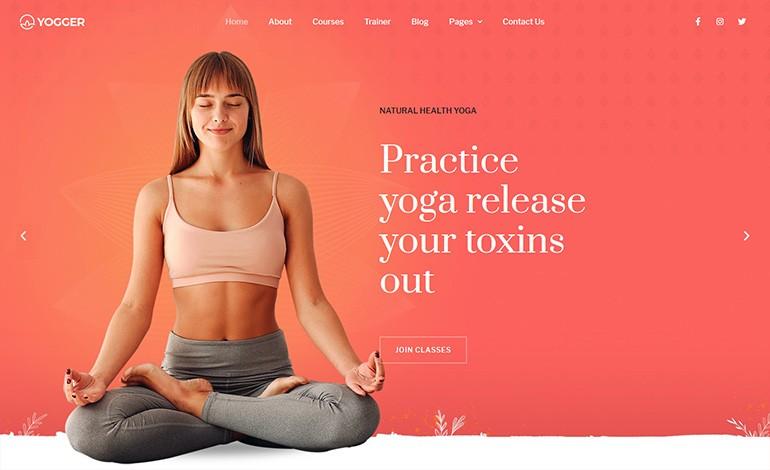 Yogger  Meditation and Yoga Elementor Template Kit
