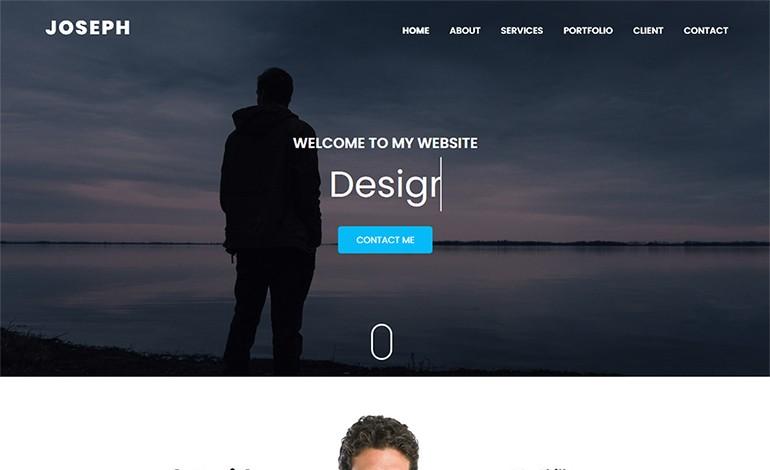 Joseph Personal Portfolio HTML Template