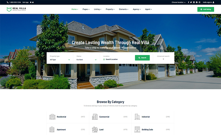 Real Villa Real Estate HTML5 Template