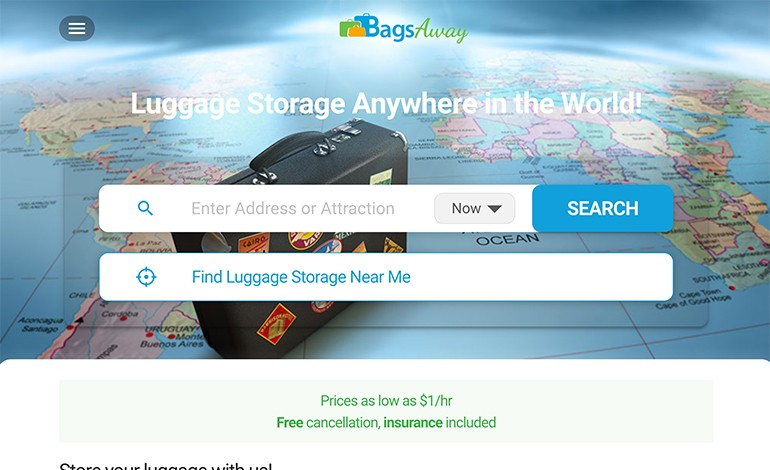 BagsAway Luggage Storage