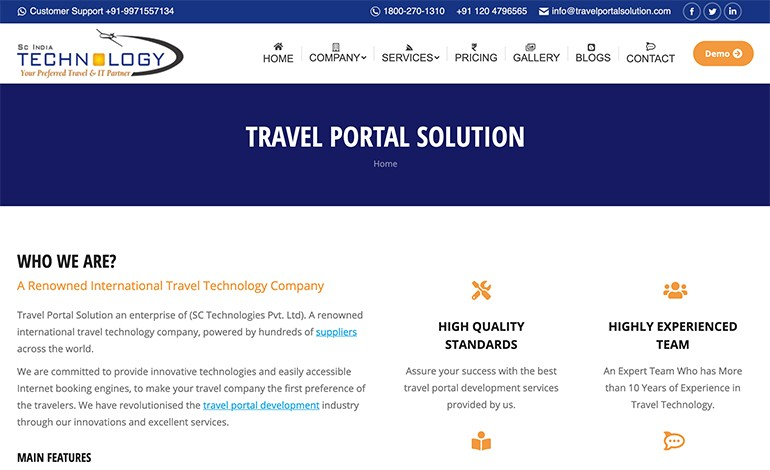 Travel Portal Solution