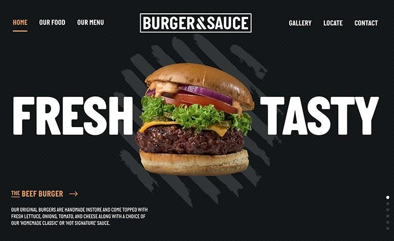 Burger and Sauce