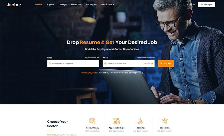 Jobber Job Board HTML5 Template