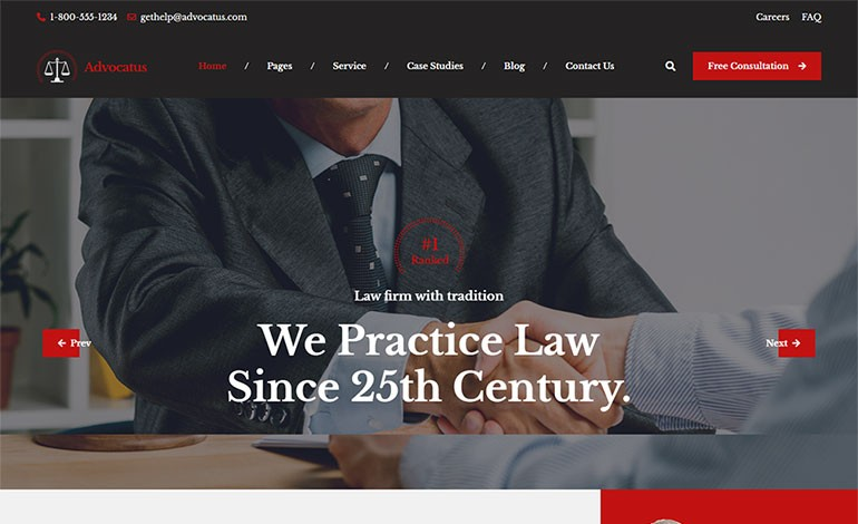 Advocatus Lawyer And Attorney HTML Template