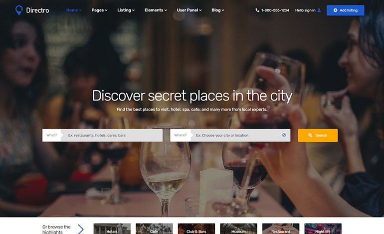 Directro Directory and Listing Template