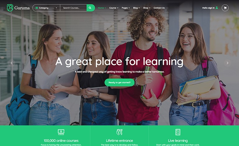 Guruma Online Course and Education HTML Template