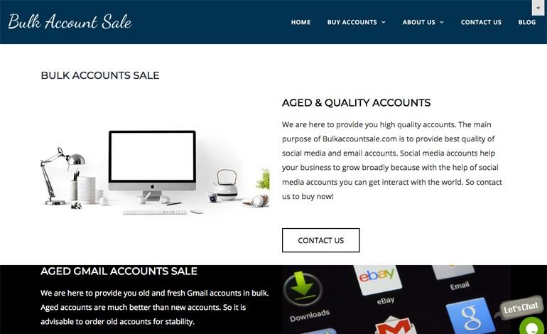 Bulk Account Sale