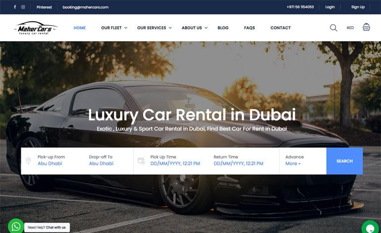 Luxury Car Rental Services in Dubai Maher cars