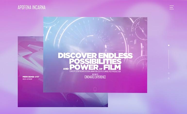 Apofena Incarna interactive portfolio