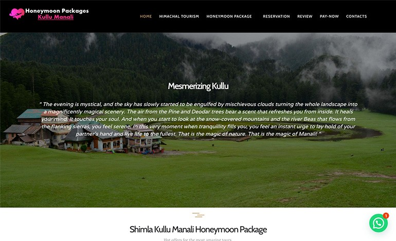 Honeymoon packages kullu manali