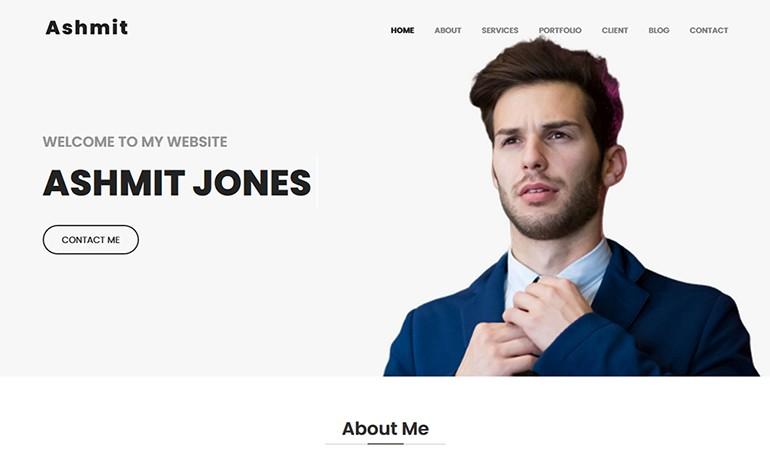 Ashmit Personal Portfolio HTML Template