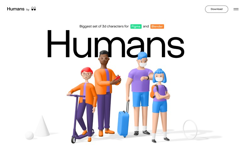 Humans 3d characters