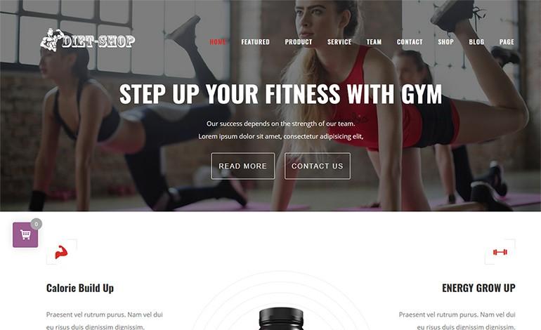 DietShop WordPress Gym Store Theme