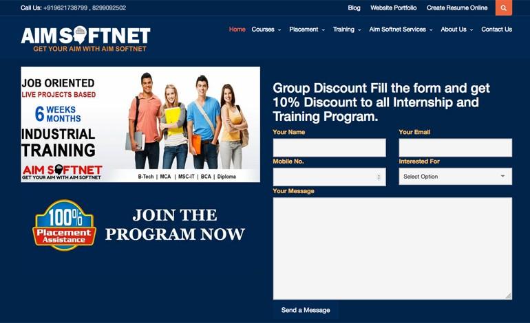 Aimsoftnet website development company
