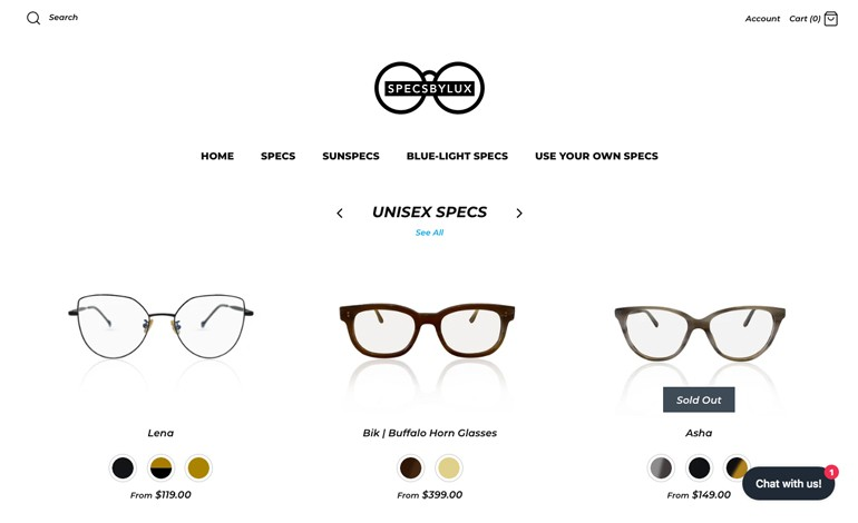 Specs by lux