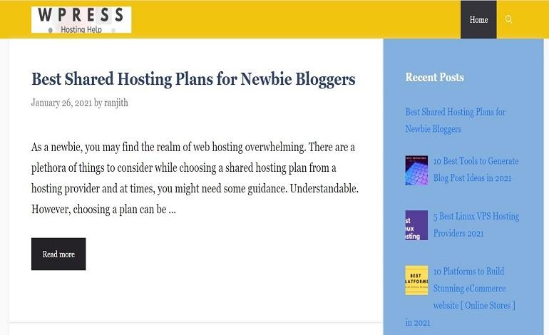 Wordpress Hosting help