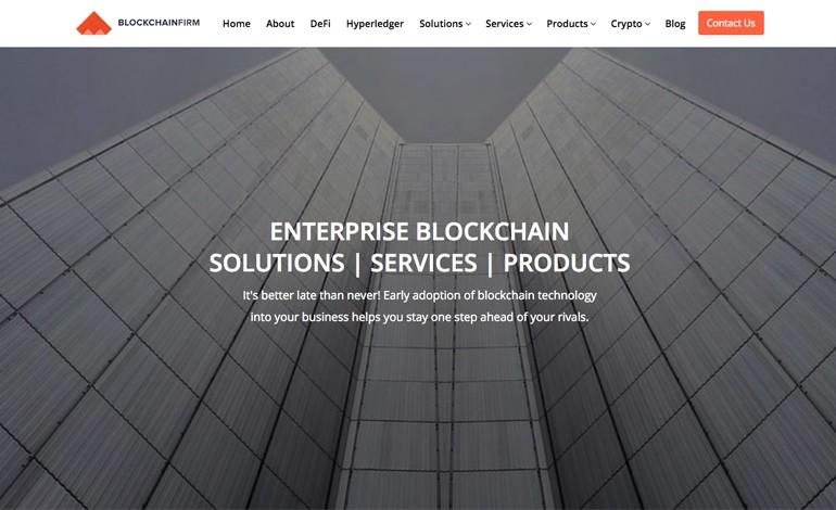Enterprise blockchain firms