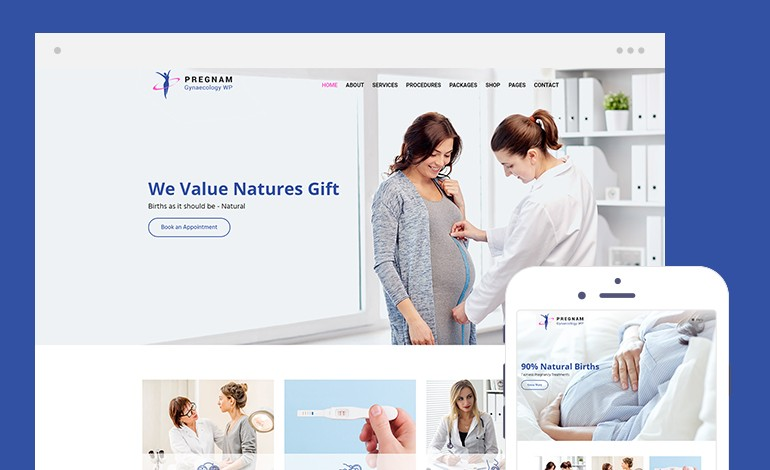 Pregnam Lite Free Health and Medical Wordpress Theme