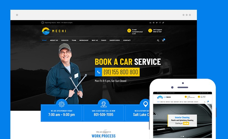 Car Repair Services and Auto Mechanic WordPress Theme Free Download