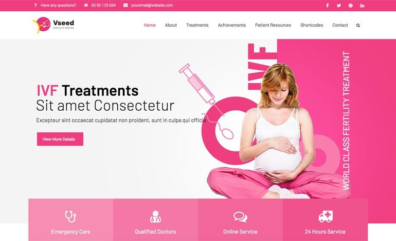 Vseed Lite Fertility Clinic WordPress Theme Free Download