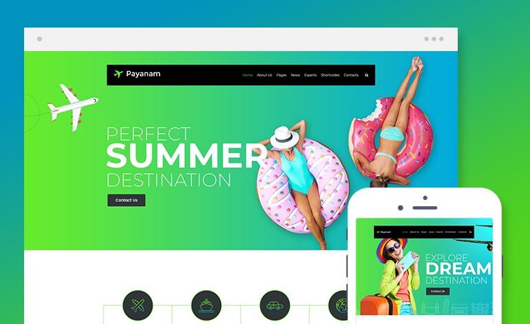 Payanam Lite WordPress Travel Theme Free