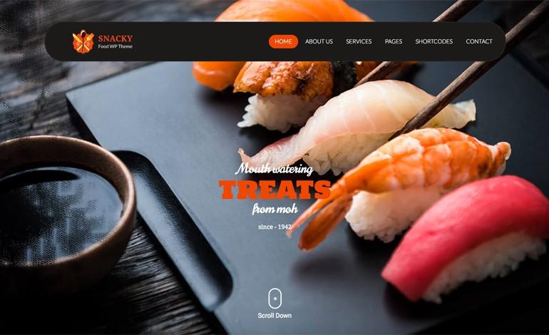 Snacky Lite  WordPress Restaurant Theme Free