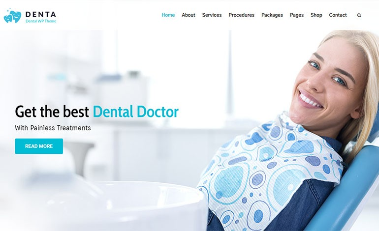 Denta Lite Dentist WordPress Theme Free