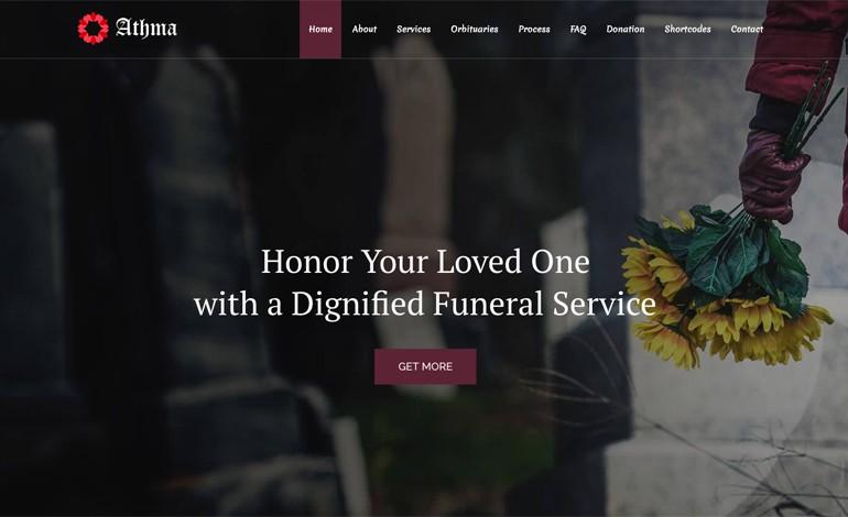 Athma Lite Free Funeral WordPress Theme