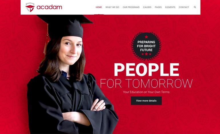 Acadam Lite Education WordPress Theme Free Download