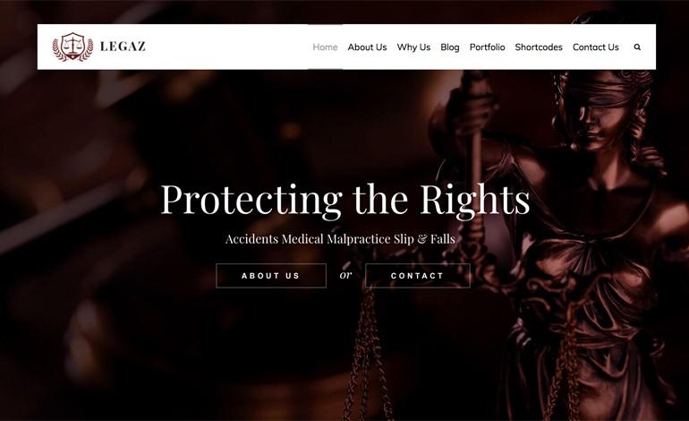 Legaz Lite Law Business WordPress Theme Free Download