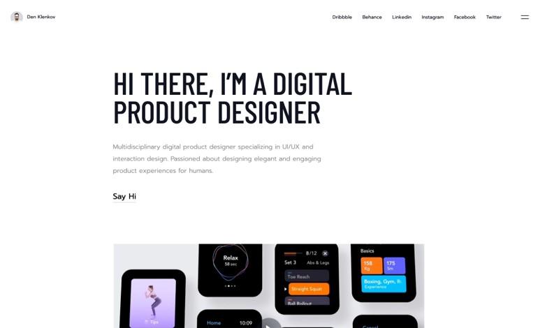 Den Klenkov Product Designer Portfolio