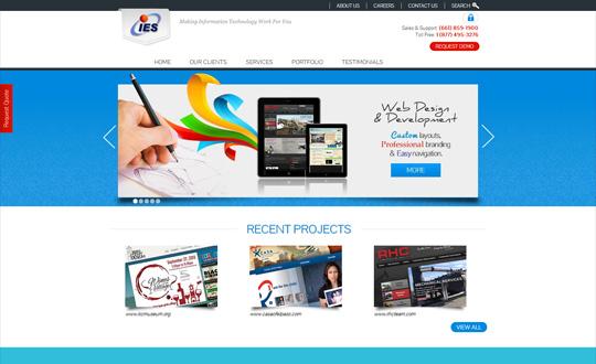 IES Corporate Website Design