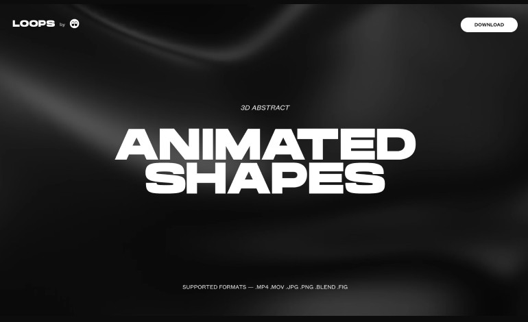 3D ANIMATED ABSTRACT SHAPES