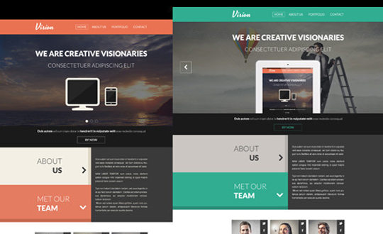 Vision One Page Flat Portfolio HTML Template