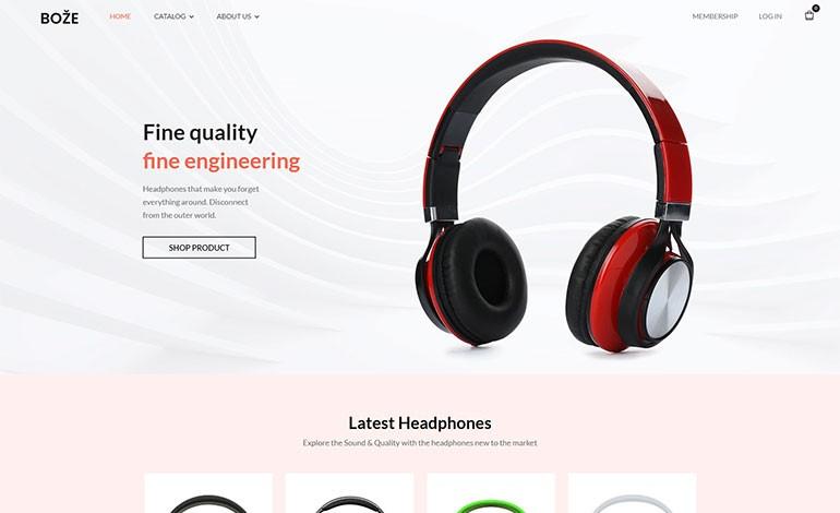 Boze Headphone and Audio Store Shopify Theme